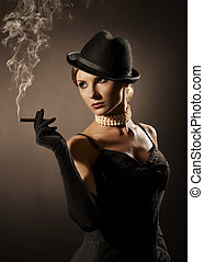cigarro, dama