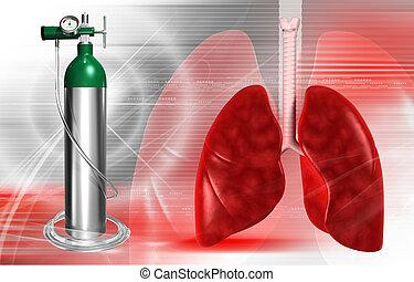 cilindro, oxígeno