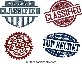 cima, clasificado, secreto, sellos