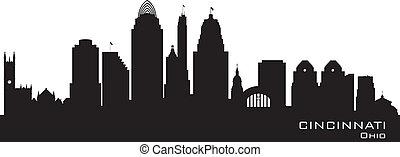 Cincinnati Ohio City Skyline vector silueta