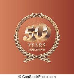 cincuenta, aniversario, años, celebración