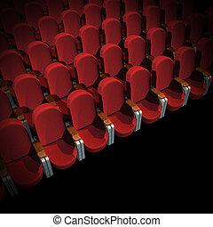 cine, asiento