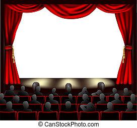 Cine con público