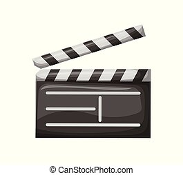Cine con rayas, vector de la industria del cine