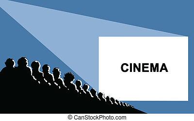 Cine, ilustración de vector