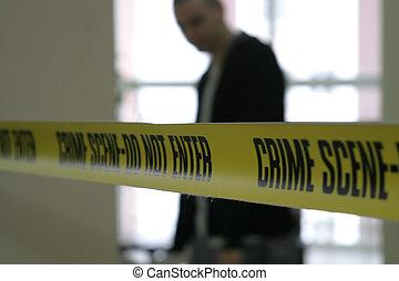 Cine policial de escena del crimen