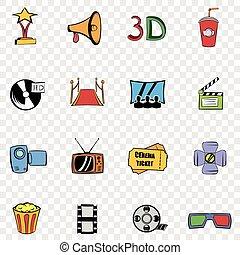 Cinema set iconos