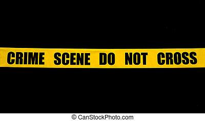 cinta de la policía, escena, crimen