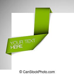 Cinta de papel verde vector