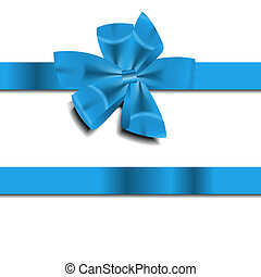Cinta de regalo azul. Ilustración del vector