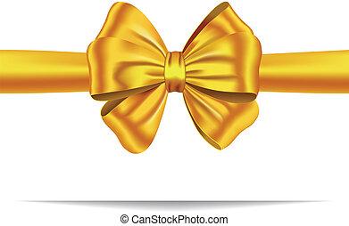 Cinta de regalo de oro con arco