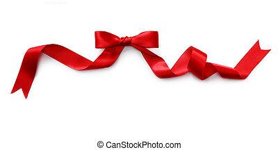 Cinta de satén roja con arco