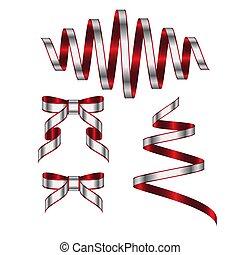 cinta, ilustración, plano de fondo, blanco, vector