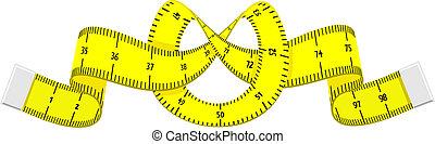 cinta medición, caricatura