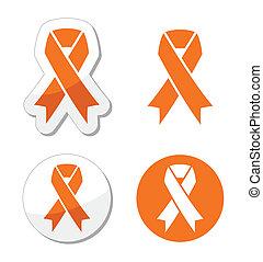 Cinta naranja - leucemia, hambre si