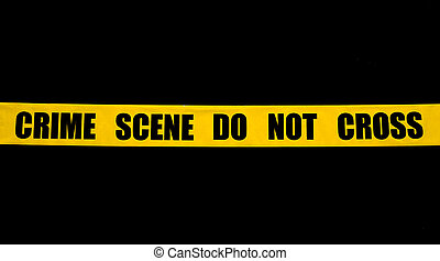 Cinta policial de la escena del crimen