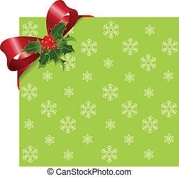 Cinta roja de Navidad en verde