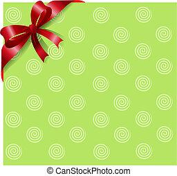 Cinta roja en verde