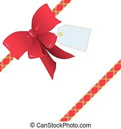 Cinta roja y moño para regalo