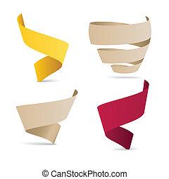 Cintas de color origami