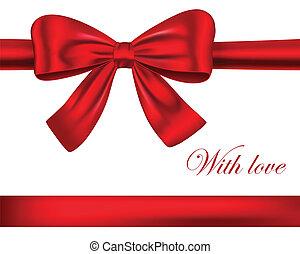 Cintas de regalo rojo con arco
