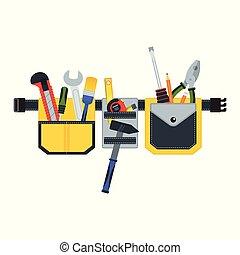 Cinturón de herramientas para reparar
