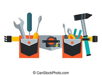 cinturón, imagen, repair., herramientas, tools., conceptual