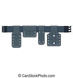 Cinturón para herramientas negras