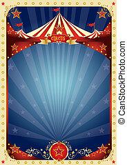 circo, diversión, cartel