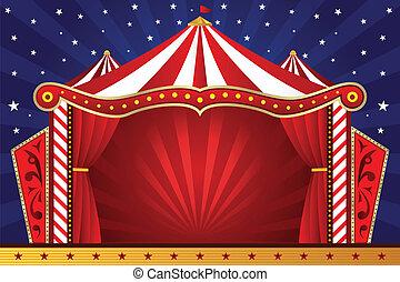 circo, plano de fondo