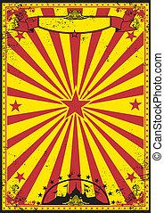 Circo retro rojo y amarillo