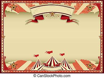 Circo rojo retro