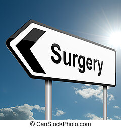 cirugía, concept.