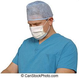 Cirujano en blanco