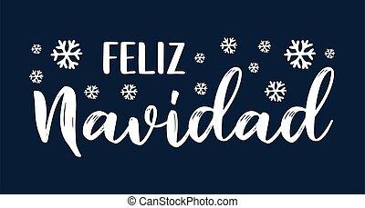 cita, celebración, letras, feliz, navidad, translated, o, invitation., español, cartel, logotipo, tarjeta, alegre, header., navidad.