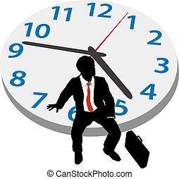 cita, empresa / negocio, reloj, tiempo, hombre, espera