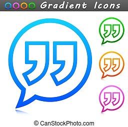 cita, icono, símbolo, diseño, vector