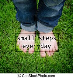 Cita inspiradora - pequeños pasos cada día