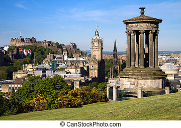 cityscape, castillo de edimburgo