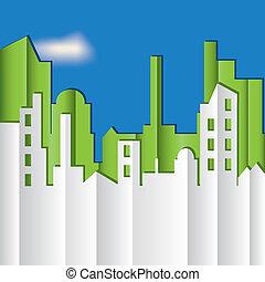 Cityscape. Ilustración del vector.