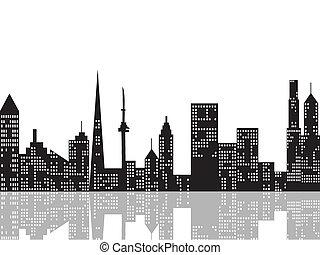 Cityscape por la noche