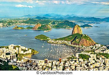 cityscape, río, janeiro, brasil, de
