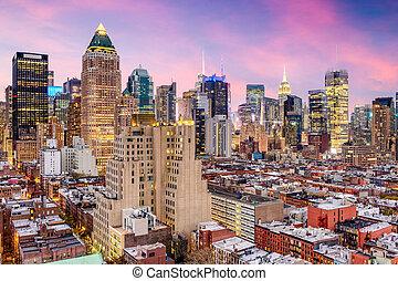 cityscape, york, centro de la ciudad, nuevo, ciudad