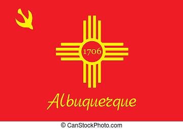 ciudad, bandera, albuquerque