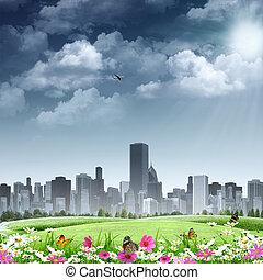 Ciudad como fondo. Abstraer los orígenes naturales