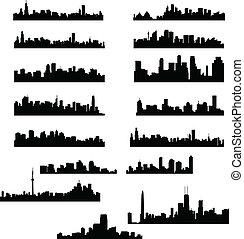 ciudad, contornos