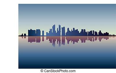 Ciudad de Chicago, vector