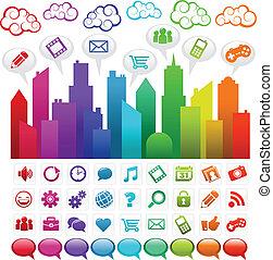 Ciudad de los medios sociales del arco iris