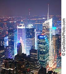 Ciudad de Nueva York, Manhattan a través de una vista aérea