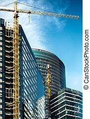 Ciudad de oficina en construcción